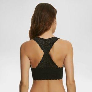 New Felina black bralette T-back